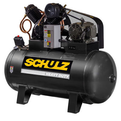 Schulz V-series 7.5 Hp 80-gallon Two-stage Air Compressor 30 Cfm 1 Ph 3 Ph-new