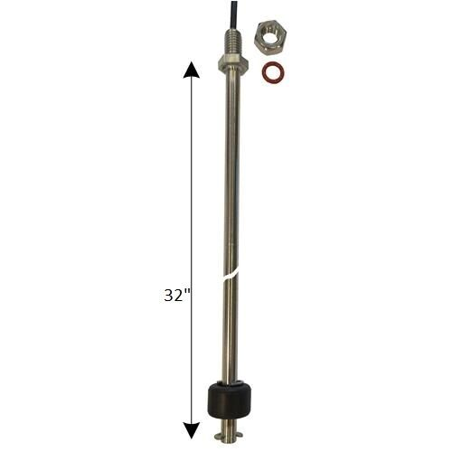 32 in Stainless steel liquid level float switch vertical NO/NC low density fuel