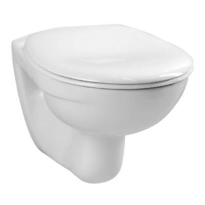 Vitra Norm Wand Tiefspül WC 540 mm inkl. WC-Sitz mit Edelstahlscharnieren Weiß
