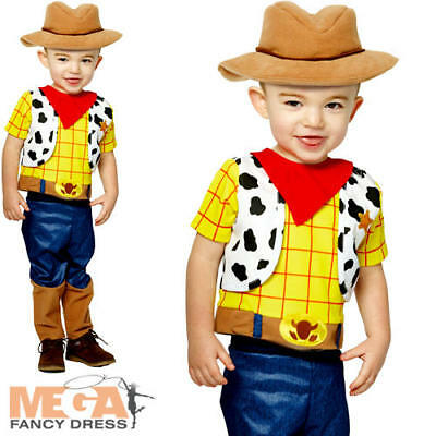 Woody Infants Fancy Dress Disney Toy Story Western Cowboy Toddler Babies Costume (Toddler Woody Costume)