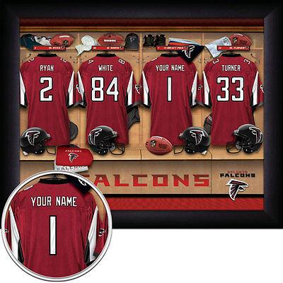 NFL Personalized 11x14 FRAMED Locker Room Print 30 TEAMS - NEW
