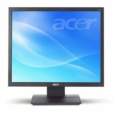 """MONITOR 17"""" USATO LCD SCHERMO PIATTO PER PC GRADO A RICONDIZIONATO VGA ACER NERO"""