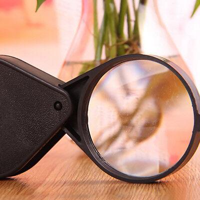 Mini Magnifying Glass (Folding Mini Pocket Jewelry Magnifier Magnifying 10X Eye Glass Loupe Lens)