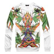 Mens White Crew Neck Sweater