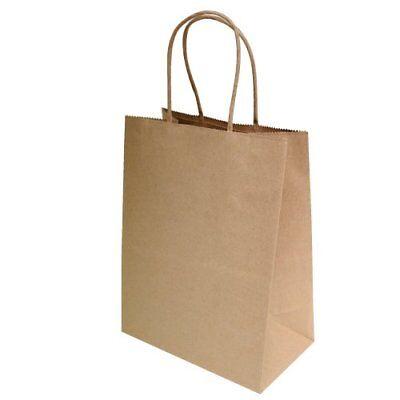 """8""""x4.75""""x10"""" 50 pcs- Brown Kraft Paper Bags Shopping Bags Pa"""