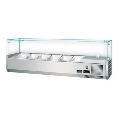 CaterCool Opzetvitrine 6 x GN 1/4
