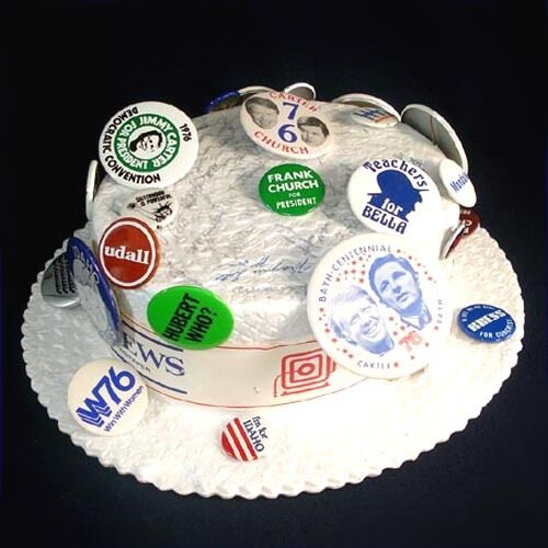 1976 Democratic Convention Autographed Hat Many Political Pinbacks Jimmy Carter