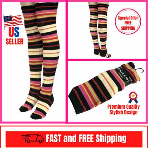 Womens Thigh High Over the Knee Stripe Rainbow Fashion  Taha