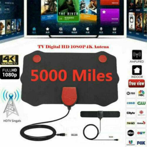5000-Mile Range HDTV Antenna 4K HD Indoor Digital TV Aerial