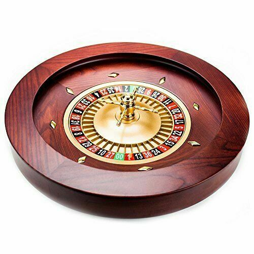 "18"" Casino Grade Deluxe Wooden Roulette Wheel With Two Ceramic Pills BRAND NEW"