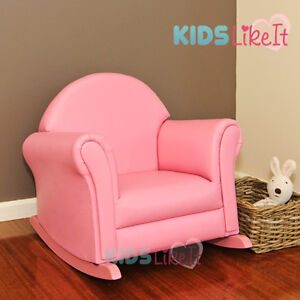 KIDS Girls PVC Leather SOFA Rocking Chair ARM CHAIR *Brand New* PINK