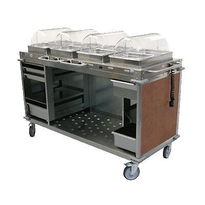 Cadco Cbc-hhhh-l1 Electric Mobileserv Hot Food Buffet Cart - 4 Buffet Servers