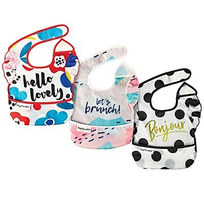 Tiny Twinkle Mess-Proof Easy Bib 3 Pack - Baby & Toddler Waterproof Bib with ...