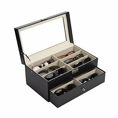 CO-Z Leather Box Eyeglasses Eyewear Organizer Display Storage Case – 12 new