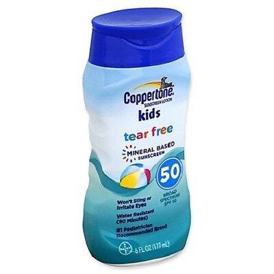 Coppertone Spf 50 (Coppertone Kids Sunscreen Tear Free Mineral Based Lotion SPF 50, 6 oz)