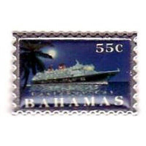 Disney Pin - Disney Cruise Line - Bahamas Stamp (Night)