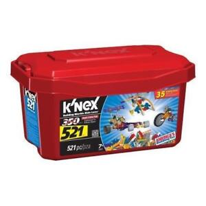 K'nex 521 pcs TUB 35 Building Ideas Set 1.7 lbs USA Made #12575