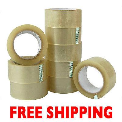 6 Rolls Clear 3 X 330 Carton Sealing Packing Shipping Tape Free Shipping