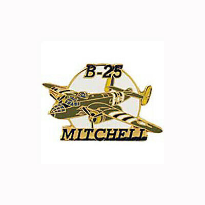 B-25 Mitchell Airplane Bomber Jet 1.5 in Collectible Military Lapel Pin