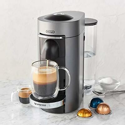 Nespresso De'Longhi ENV155T VertuoPlus Deluxe Coffee and Espresso Machine Titan