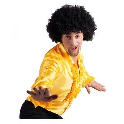 Boland Saturday Night Fever Faschingskostüm Kostüm - Rüschenhemd  Gelb - Größe L