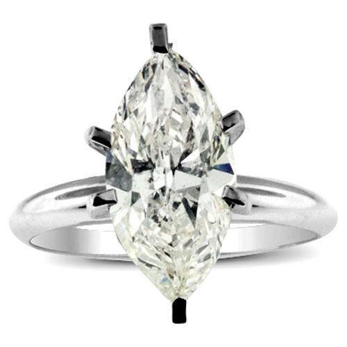 Marquise Diamond Ring White Gold Ebay