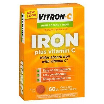 Vitron-C High Potency Iron Supplement Plus Vitamin C 60