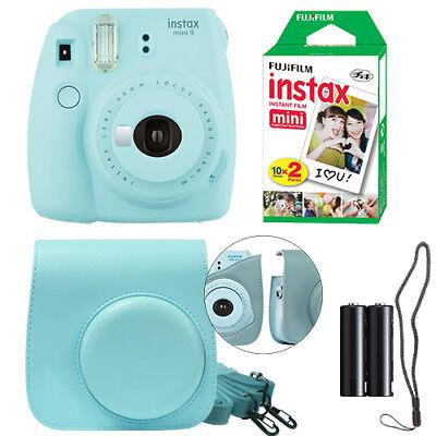 Fuji Instax Mini 9 Fujifilm Instant Film Camera All Colors Case  20 Film Sheet