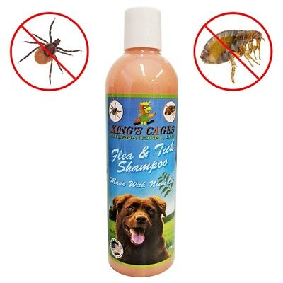 50019 Kings Cages Flea and Tick Dog Shampoo with Neem Oil 17 oz