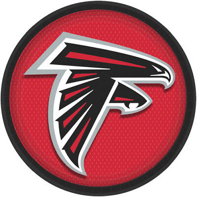 NFL ATLANTA FALCONS LARGE PAPER PLATES (8) ~ Birthday Party Supplies Dinner Red](Party Supplies Atlanta)