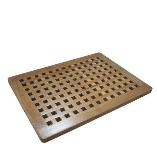 bathroom floor liner teak shower mat ebay 10655