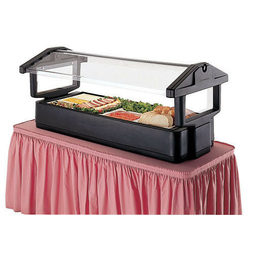 "Food and Salad Bar - Tabletop, 71-1/2""W, Black"