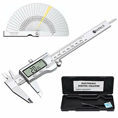 Neoteck 6 Inch Digital Caliper And Feeler Gauge Set Stainless Steel Electroni...