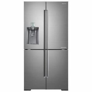 Réfrigérateur de 34 pi³ à portes françaises, 4 portes -acier inoxydable brossé et platine Samsung ( RF34H9960S4 )