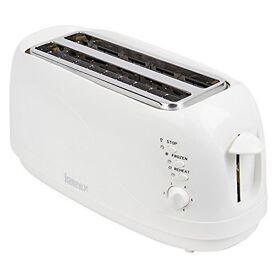 Igenix IG3020 4 Slice White 1300W Toaster New