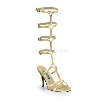 Kostüm High Heels Römer Kleopatra Sandaletten gold Gr 45 (Kostüm Heels)