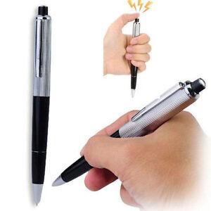 Electric Shock Pen Joke Gag Prank Novelty Trick Fun Funny Gadget Boy Gift Toy UK
