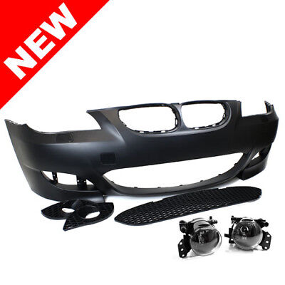 Used, BMW E60/E61 5-Series M5 Style Non-PDC Front Bumper Kit w/ Clear Fogs for sale  Pleasanton