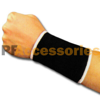 Elastic Compression  Wrist Support for Hand Brace Carpal Relief Pain (Black)