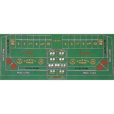 Craps Table Cover (Poker Craps Layout Casino Game  Cover Guide Party Office Playing Homemade)