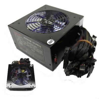 Quiet 700W 700 Watt for Intel AMD PC ATX Power Supply SATA PCI-E 120mm LED Fan