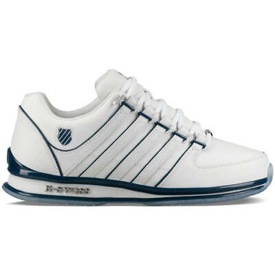 K-Swiss Rinzler Mens White Leather Trainers Shoes Size 8-11
