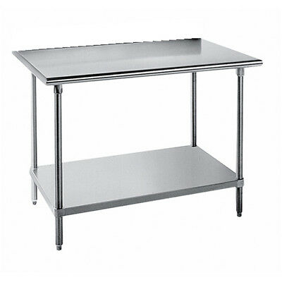 3084 Work Table Backsplash - 16 Gauge Stainless Steel Worktable without Backsplash, 84