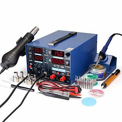 Yihua 853d 2a Usb Smd Hot Air Rework Soldering Iron Station Dc Power Supply 0...