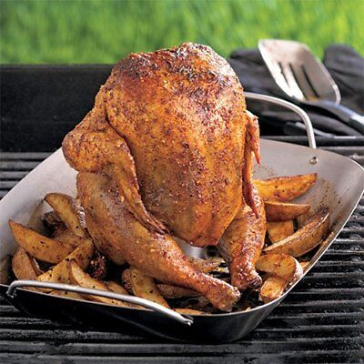 Chicken Beer Can Roaster Stainless-Steel Turkey Roaster BBQ Grilling Tool AU Stainless Steel Chicken Roaster