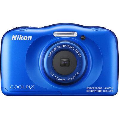 New Nikon COOLPIX W100 13.2 MP Waterproof Shockproof Digital Camera (Blue)