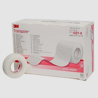 """Transpore Surgical Tape by the Box, 1/2"""" (PACK of 3/6/9/12/24 Rolls)"""