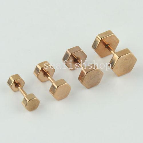 mens gold earrings ebay