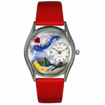 Whimsical Watches Women's S0440005 Crochet Red Leather Watch