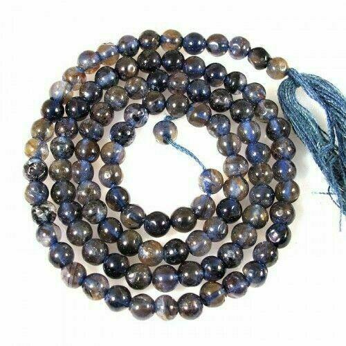 Indian+Loose+Gemstone+Beautiful+Natural+Iolite+Round+Beads+32.30+Carets+3+mm